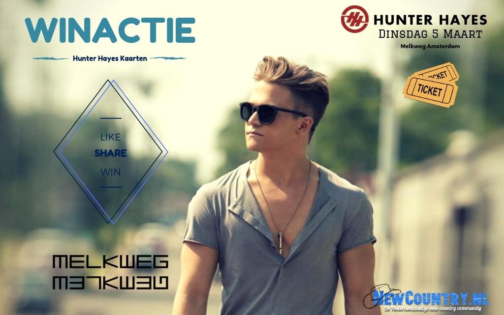 WINACTIE! win kaarten voor Hunter Hayes in de Melkweg!