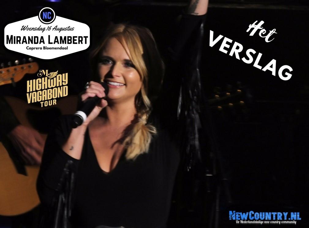 Concertrecensie: Miranda Lambert - Caprera, Bloemendaal