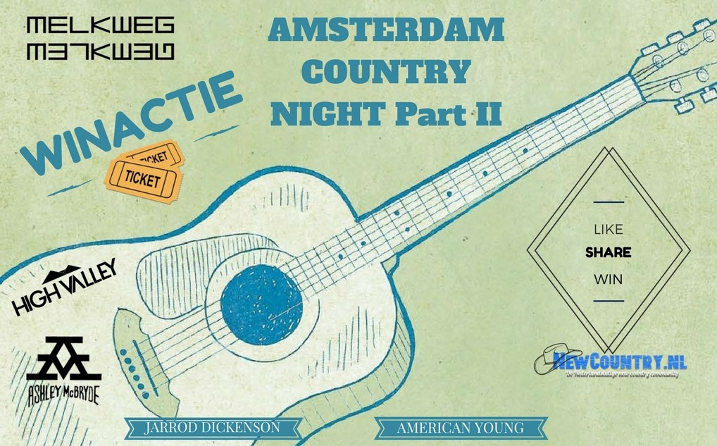 WINACTIE! win kaarten voor de Amsterdam Country Night part II