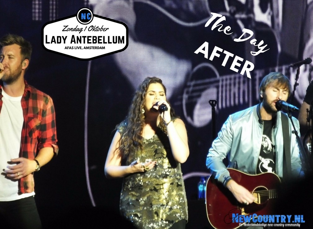 Lady Antebellum .. in de AFAS Live ...The Day After