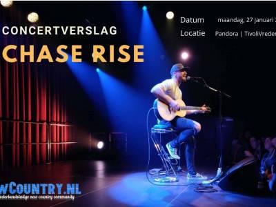 Concertverslag: Chase Rice intiem en persoonlijk