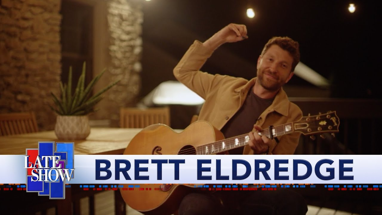 Brett Eldredge akoestisch met 'Gabrielle' in 'The Late Show'