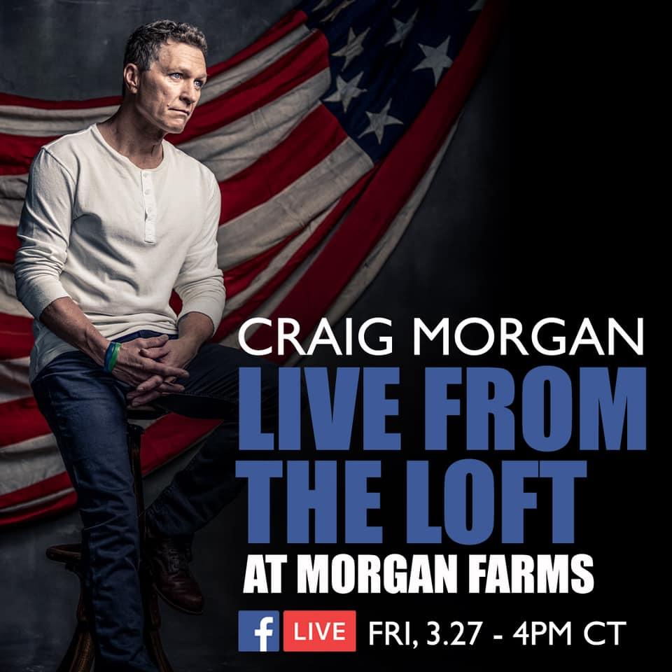 Live streams met Craig Morgan en Dierks Bentley (27 maart)
